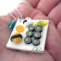 Japan food miniature necklace handmade in italy by Alchemian