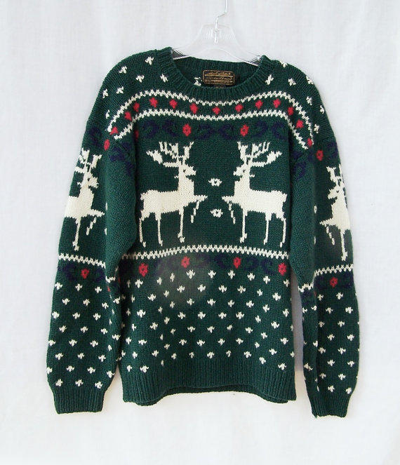 Ugly Christmas Sweater Warm Winter Wool From Gloriousmorn