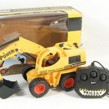 New Remote Control 5CH Digger Excavator Dig Function Full Function Line Control