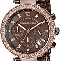Michael Kors Women's Parker Sable Tone Chronograph Watch
