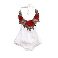 Newborn Baby Girls Clothes Tops Bodysuit Floral Jumpsuit Ruffles Cute Outfits Sunsuit Clothing Baby Girl