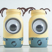 Minion Mason Jar Coin Banks - KA Styles