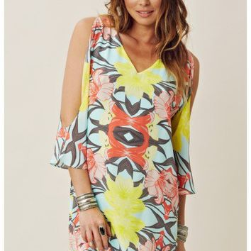 Addison Cold Shoulder Criss Cross Dress