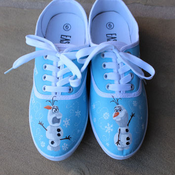 Hand Painted Shoes - Frozen - Olaf