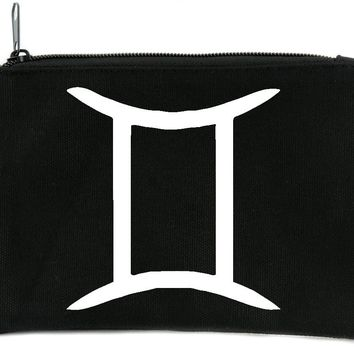 Zodiac Gemini Sign Cosmetic Makeup Bag Astrology Horoscope The Twins