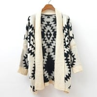 Geometric patterns joker sweater coat / 43