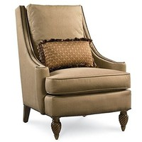 Legacy Pemberleigh Accent Chair In Brandy With Burnished Edges