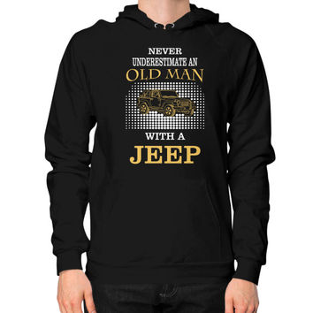 Old man with jeep Hoodie (on man)