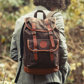 Brown Backpack, Canvas backpack, Backpack Men, Teen Backpack, Rucksack Backpack, Large Backpack, Hiking Backpack, School Backpack, Mens Bag
