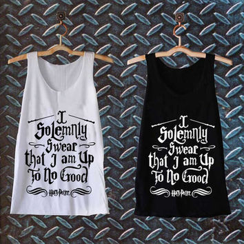 I Solemnly Swear that I am Up To No Good best customized design for Tank top Mens and Tank top Girls , sizes S - XXL