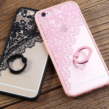 Hollow Out Lace iPhone 7 se 5s 6 6s Plus Case Cover + Nice Gift Box 360