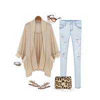 NEW YORK FASHION CHIFFON CARDIGAN JACKET