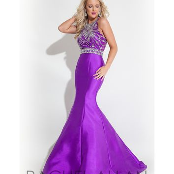 Preorder - Rachel Allan 7147 Purple Sexy Sleeveless Mermaid Long Gown 2016 Prom Dresses