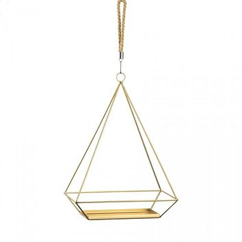 Hanging Plant Holder With Rectangle Base
