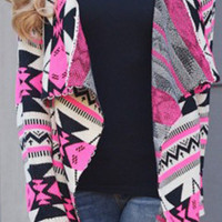 Cupshe Loving In Spring Aztec Knitting Cardigan