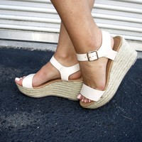 Caleb Espadrille Wedge- Nude - Thirty One Boutique