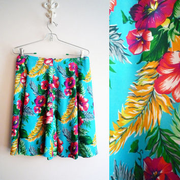 90s GAP Hawaiian Flared Mini Skirt Size 10, SALE