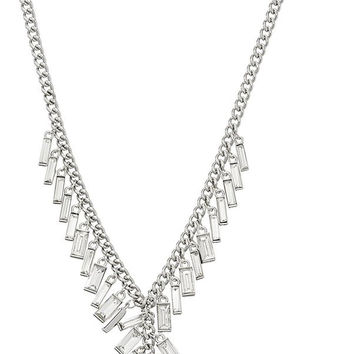 "Kenneth Cole New York ""Sparkled Baguette"" Shaky Crystal Baguette Stone Y-Shaped Necklace, 21"" + 3"" extender"