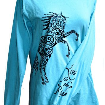 Paisley Pony LONG Sleeve T-shirt
