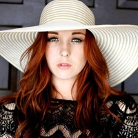 White Striped Sun Hat | Love Louise Clothing