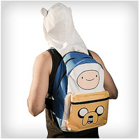 Adventure Time Jake & Finn Hooded Backpack - Spencer's