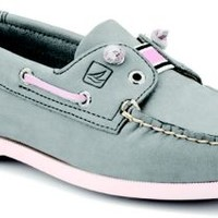 Sperry Top-Sider Lexington Slip-On Boat Shoe LightGrayLeather/Pink, Size 11M  Women's Shoes