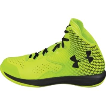 993a26a7eda2 Under Armour Boys  Grade School Clutchfit Lightning Basketball Shoe -  Yellow