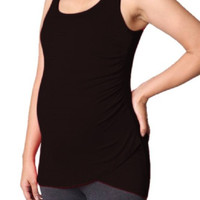 Zen Maternity Side Shirred Tank Top