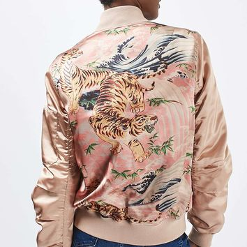 Tiger Printed Ma1 Bomber Jacket