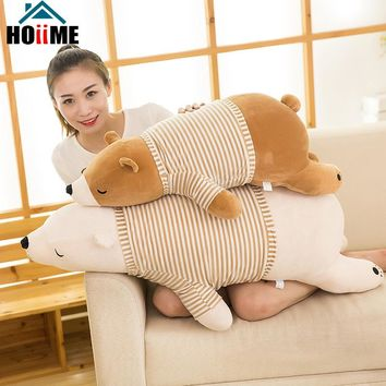 Children Stuffed Animal Toy Doll Cushion Super Soft Polar Bear Plush Peluches Animal Toy Pillow Kids Birthday Christmas Gift