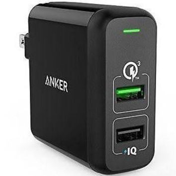 Anker 31.5W Dual USB Wall Charger PowerPort 2 with Quick Charge 3.0