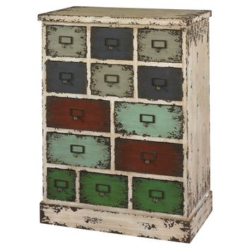 Powell Parcel 13 Drawer Cabinet | Hayneedle