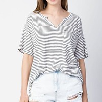 Slub Stripe Top