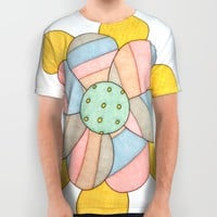 Blossom All Over Print Shirt by Erin Brie Art