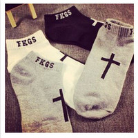 Cross Rack Skateboard Socks [9259041220]