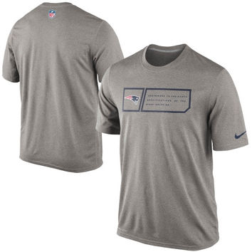 Nike New England Patriots Legend Jock Tag Performance T-Shirt - Ash