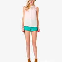 Crochet Lace Georgette Top | FOREVER 21 - 2034436108