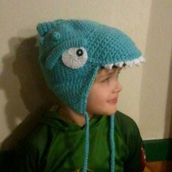 Crocheted Skylander Hat Inspired by Thumpback Character - Baby, Toddler, Child or Preteen Size - Adult Size Must Add On