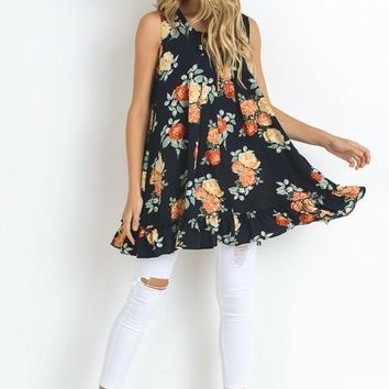 Rock Their World Floral Tunic