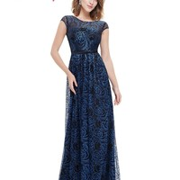 Long Prom Dresses Sexy Prom Party Dress Ever Pretty HE08823SB Elegant Prom Dresses  New Style Sweetheart  Lace Prom Dresses