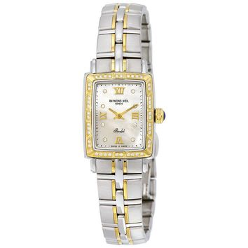 Raymond Weil Parsifal Mother of Pearl Two Tone Ladies Watch 9740-STS-00995