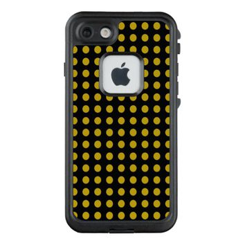 Classic Golden Dots Pattern Custom Black LifeProof FRĒ iPhone 7 Plus Case