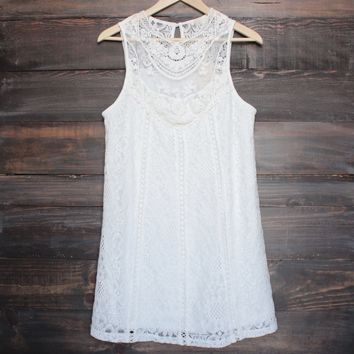 ivory boho crochet lace dress