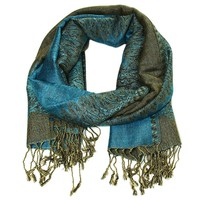 Double Sided Teal Pashmina