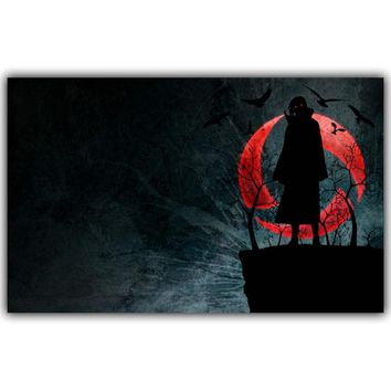 Naruto Sasauke ninja  Poster Popular Classic Japanese Anime Home Decor Silk Poster Picture Print Wall Decor 30x48cm 50x80cm AT_81_8