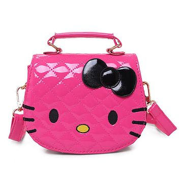 Character Shoulder Bags Cartoon Hello Kitty Shoulder Bag Large Handbags for Girls Women Cat Shape Pink Lady Baby Kids Waterproof