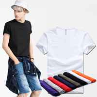 Summer Casual Slim Round-neck Cotton Short Sleeve Men's Fashion T-shirts [6541360003]