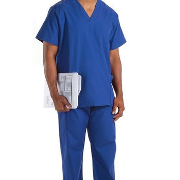 Prestige Medical Premium Unisex Scrub Tops, Royal, XX-Large