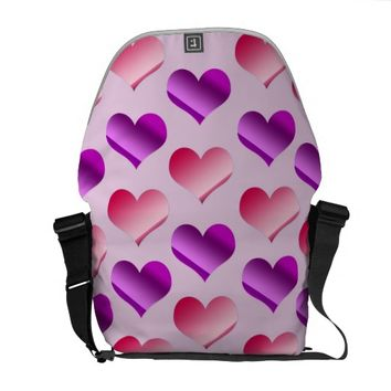 Bunches of Hearts Messenger Bag