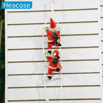 25cm Christmas Santa Claus doll christmas tree decorations with stairnatal new year Christmas decoration for home